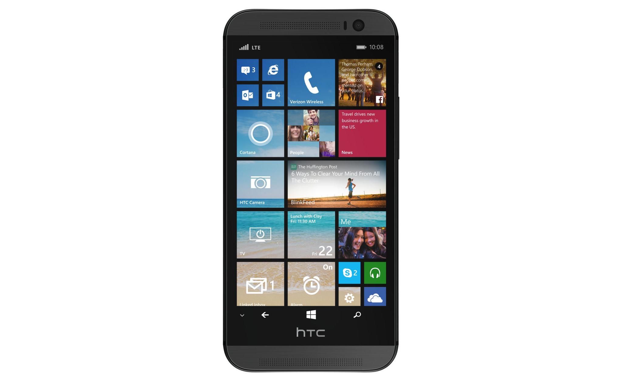 L Htc One M8 Se Dote D Une Version Windows Phone